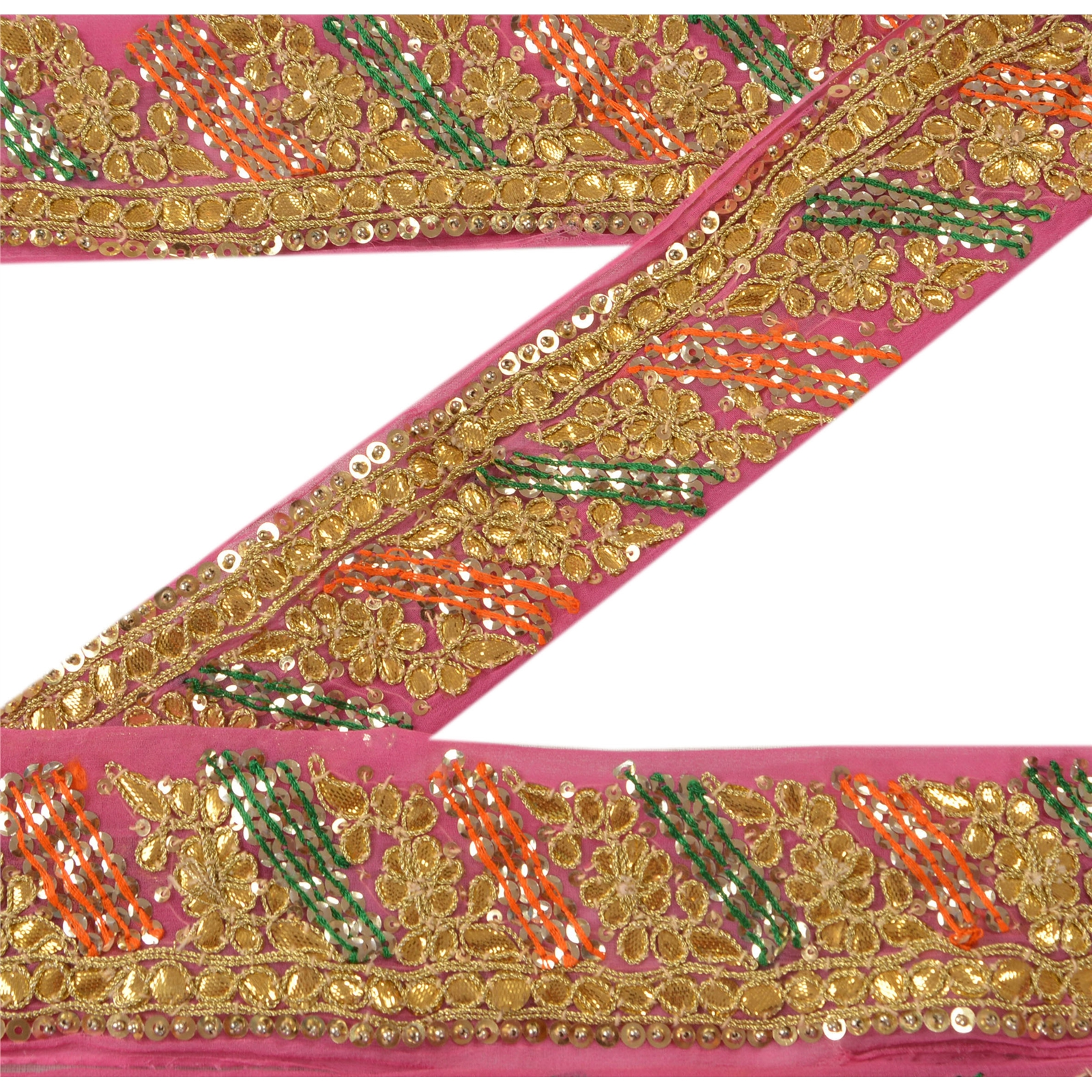 Just Vintage Sari Border Antique Hand Beaded Indian Trim Sewing Maroon Lace Easy To Use Crafts Trims