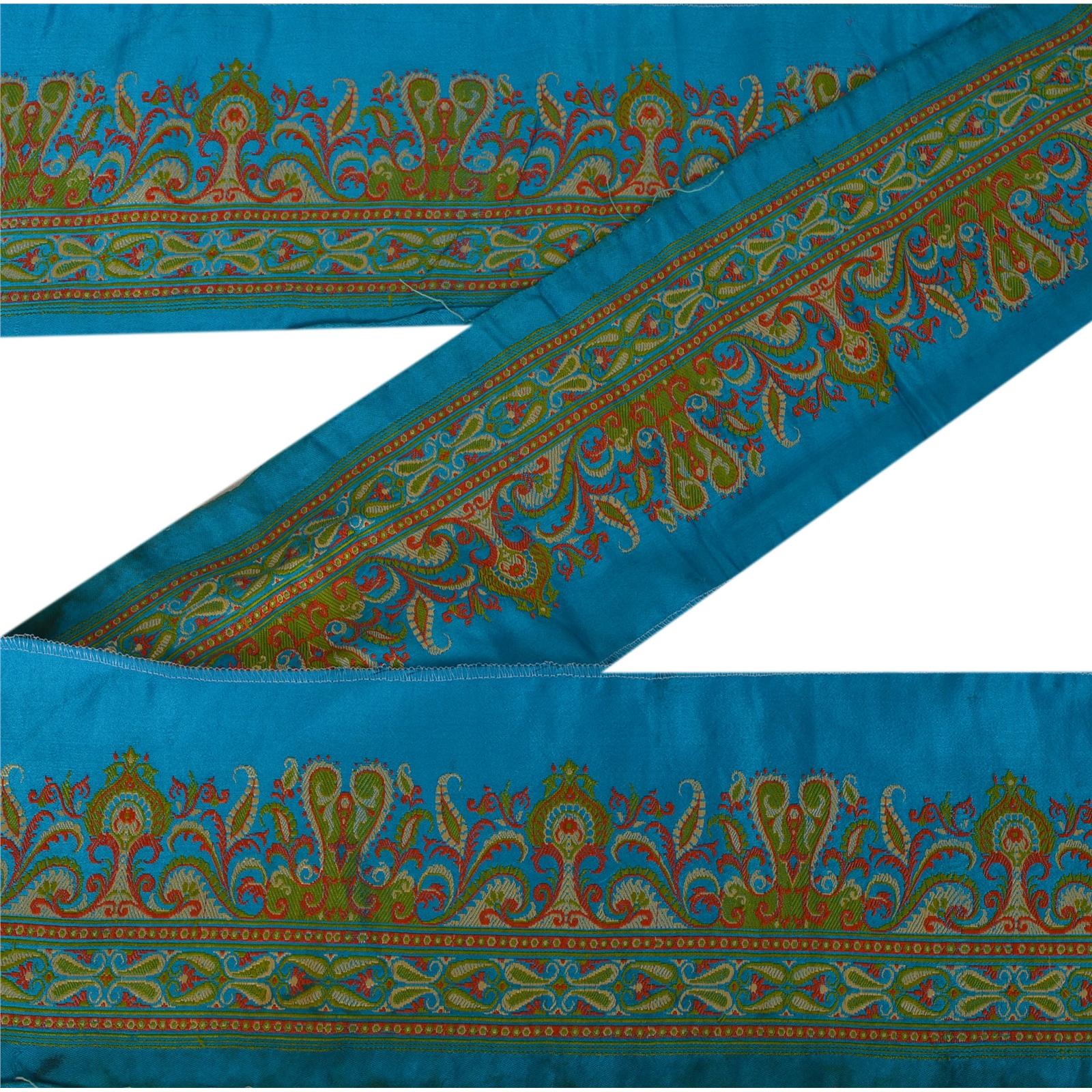 Wedding Trim Silver Ethnic Lace Sewing Craft Sari//Lengha Border 1 Metre