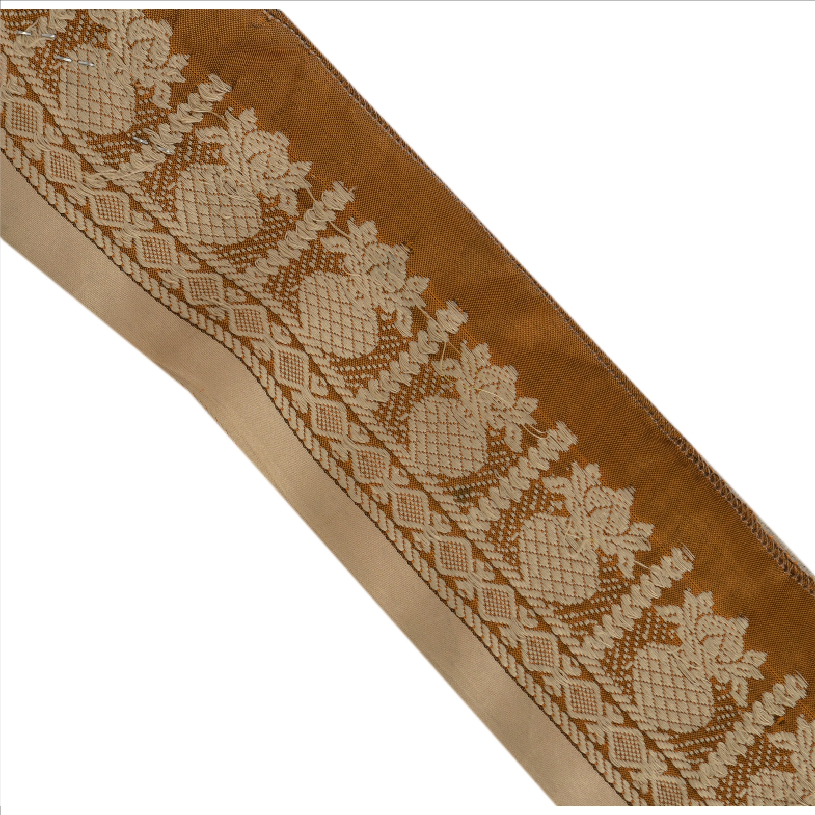 Crafts Embellishments & Finishes Vintage Sari Border Antique Embroidered Woven Trim Sewing Saffron Lace