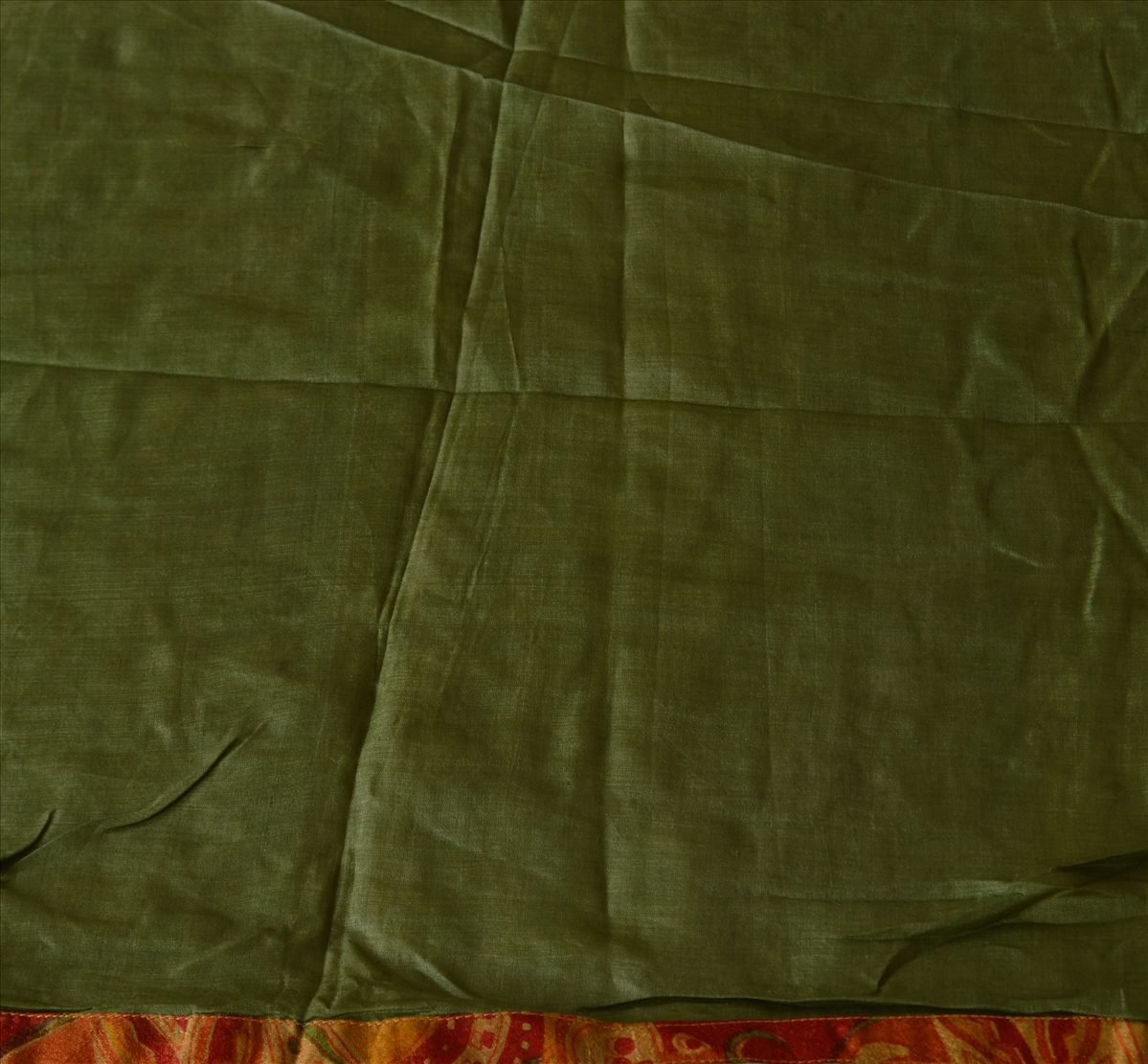 Sanskriti vintage dupatta long stole pure silk green for Joot work