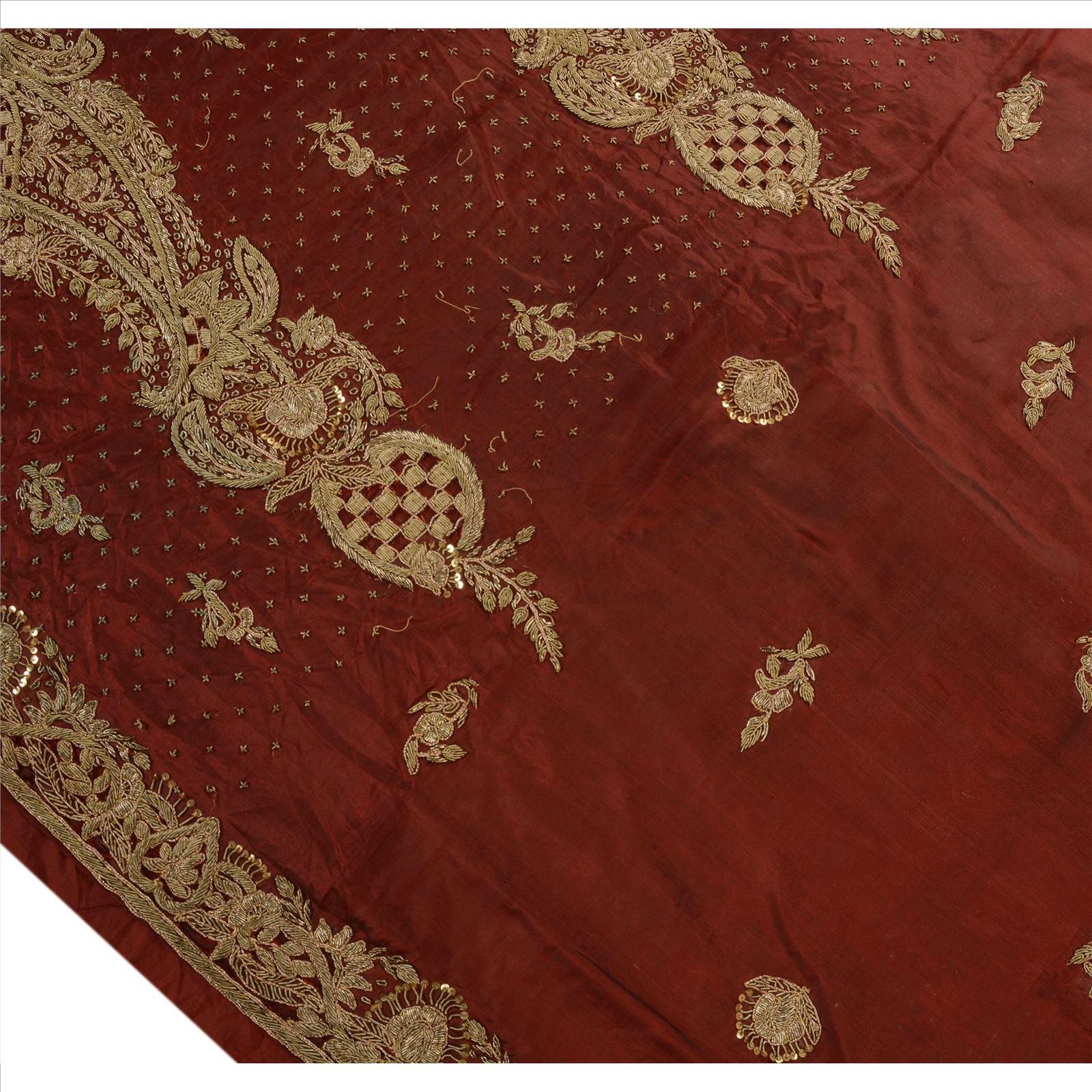 Antique vintage indian saree pure silk hand