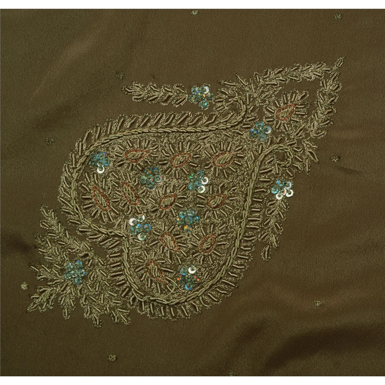 Hand embroidery zari work makaroka