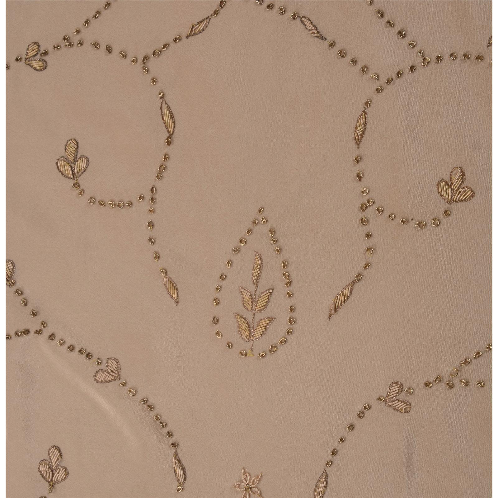 Sanskriti vintage indian saree art silk hand embroidered